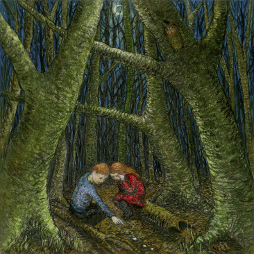 Hansel and Gretel Lost in the Forest