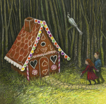 Hansel and Gretel Gingerbread House Card