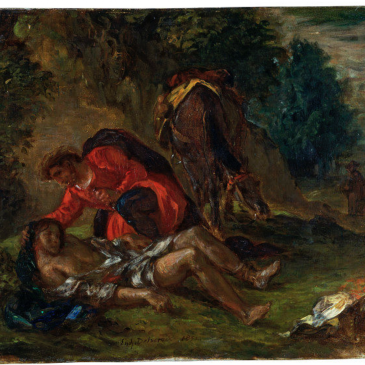 Beautiful Delacroix painting overlooked