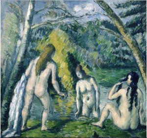 Three Bathers Paul Cezanne