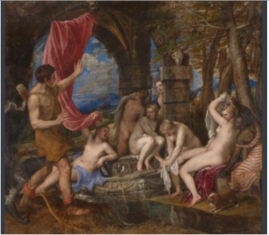 Metamorphosis Diana and Actaeon Titian